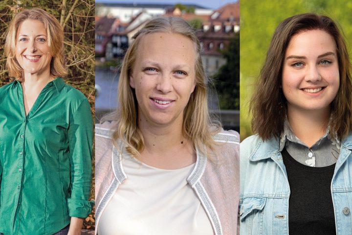 Die Stadträtinnen Karin Einwag, Claudia John und Tamara Pruchnow