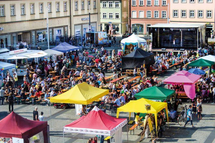 Fest der Vielfalt am Maxplatz 2016, Foto: Migranten- und Integrationsbeirat der Stadt Bamberg