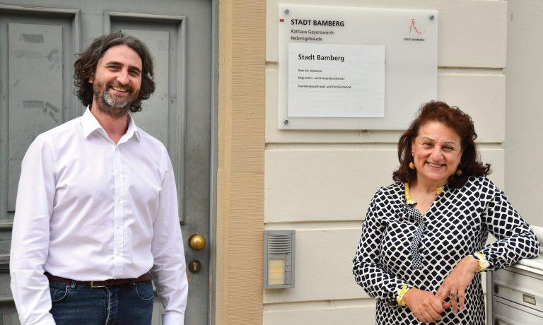 Migranten- und Integrationsbeirat der Stadt Bamberg: Mitra Sharifi-Neystanak und Dr. Marco Depietri