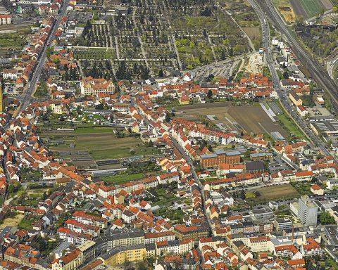 Bamberger Gärtnereien: Das Bamberger Gärtnerviertel von oben